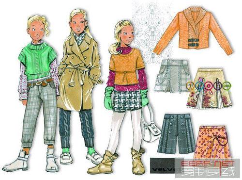 0809春夏少女服装设计图
