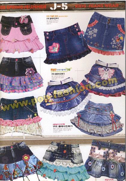 2008春夏童装可爱牛仔裙裤设计手稿(三)