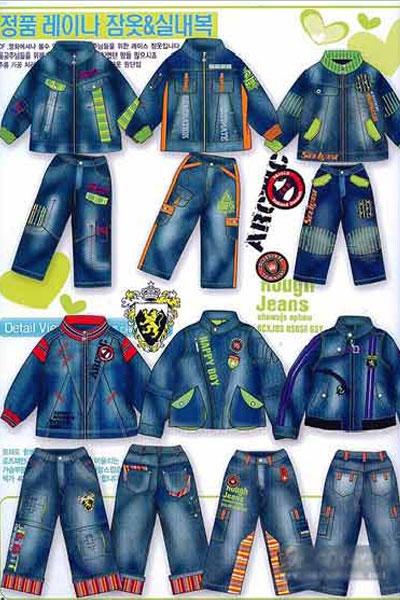 2007-2008韩国童装牛仔设计手稿(二)