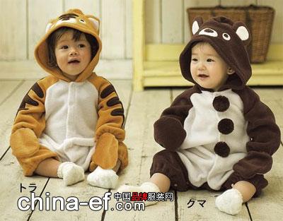 小宝宝穿起这款动物哈衣